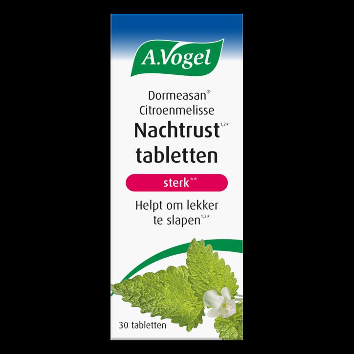 A.Vogel Dormeasan Nachtrust Sterk Citroenmelisse Tabletten (30 Tabletten)