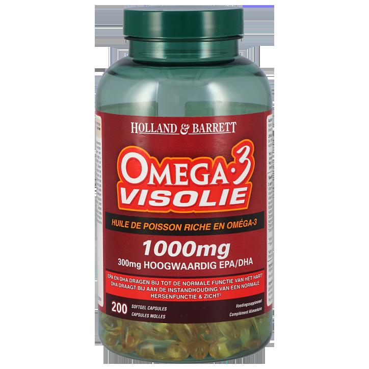 Holland & Barrett Omega 3 Visolie 1000mg 200 Capsules