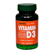 GNC Vitamin D 10ug 120 Tablets