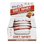 PhD Diet Whey Bar Chocolate & Peanut Butter 12 x 65g