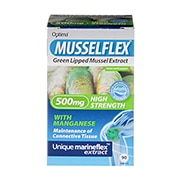 Optima Healthcare Musselflex Green Lipped Mussel Extract 90 Tablets