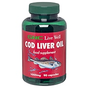 GNC Cod Liver Oil 1000mg 90 Capsules