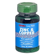 GNC Zinc 15mg with Copper 90 Tablets