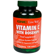 GNC Vitamin C Timed Release 1500mg with Rose Hips 120 Tablets