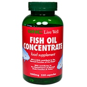 GNC Fish Oil Concentrate 1000mg 250 Capsules