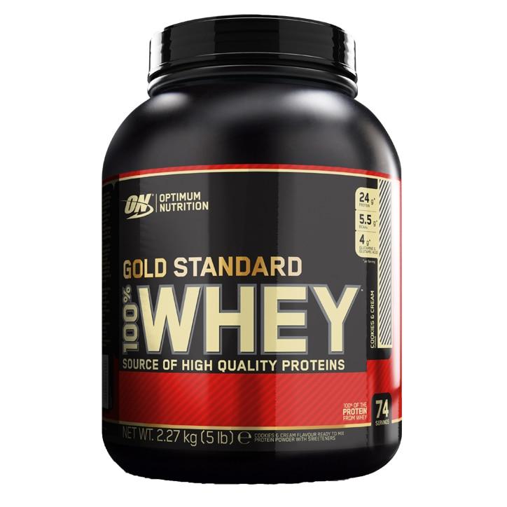 3d1995dae Optimum Nutrition Gold Standard 100% Whey Powder Cookies   Cream ...