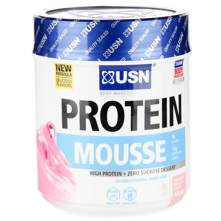 USN Protein Mousse Strawberry White Chocolate 480g
