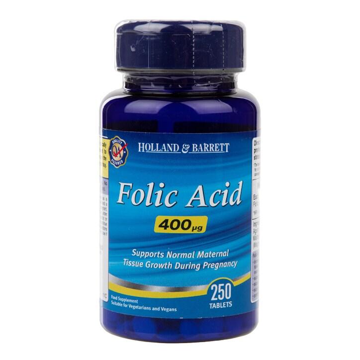 Holland & Barrett Folic Acid 250 Tablets 400ug