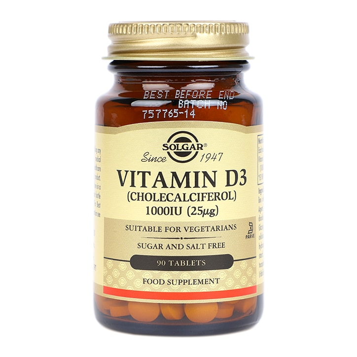Solgar Vitamin D3 1000IU 90 Tablets