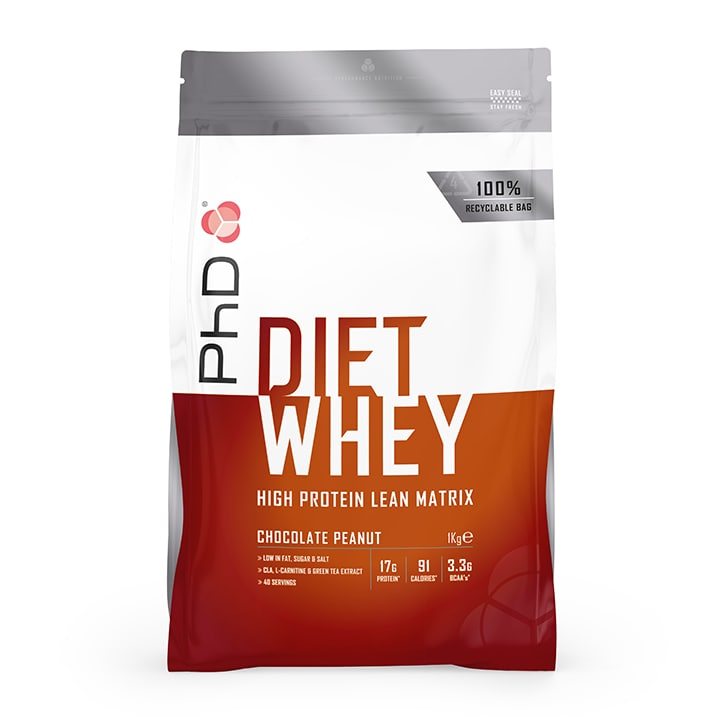 PhD Diet Whey Powder Chocolate Peanut 1000g