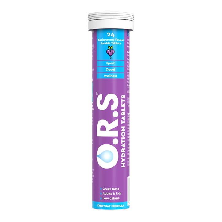 ORS Hydration Blackcurrant 24 Soluble Tablets