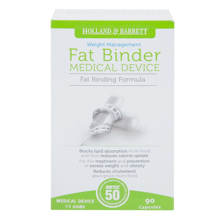 Holland & Barrett Fat Binder 45 Day Supply 90 Capsules