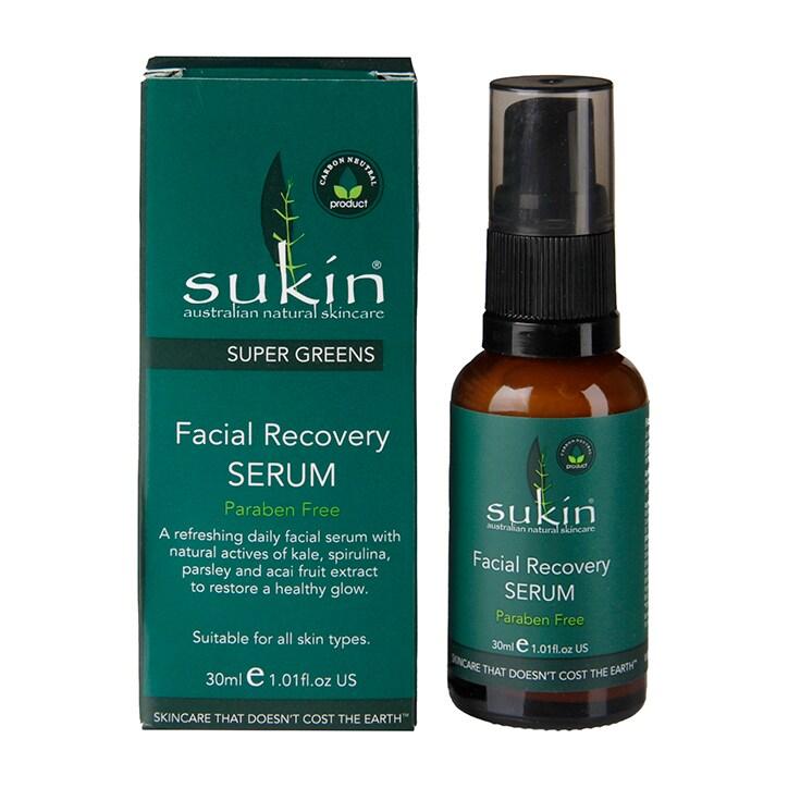 Sukin Super Greens Recovery Serum 30ml