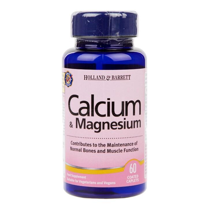 Holland & Barrett Calcium & Magnesium 60 Caplets
