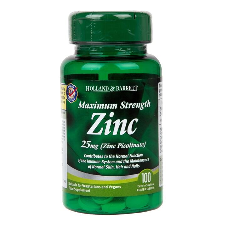 Holland & Barrett Zinc Picolinate 100 Tablets 25mg