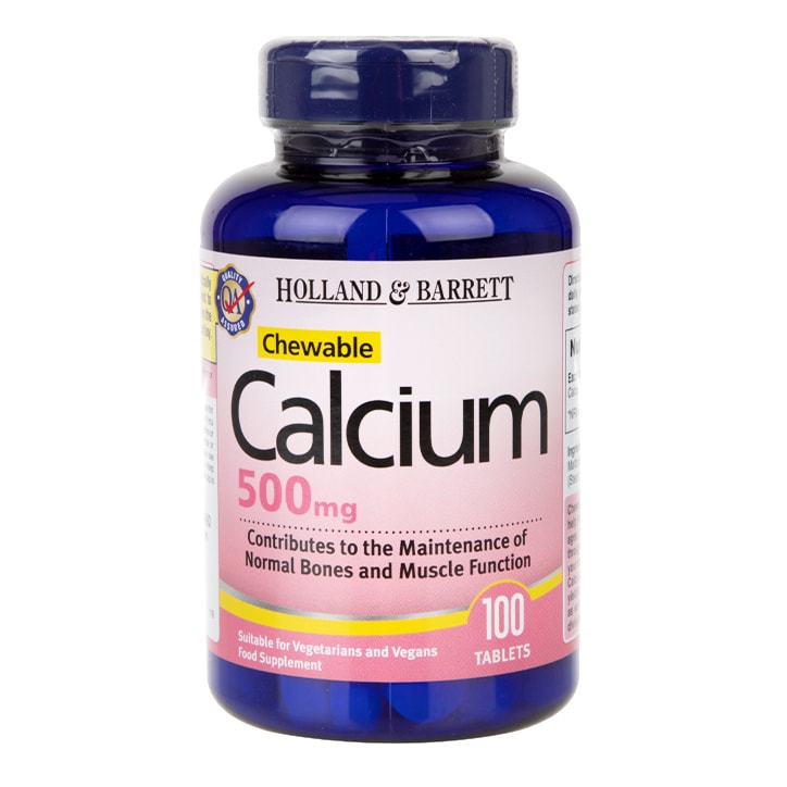 Holland & Barrett Chewable Calcium 100 Tablets 500mg