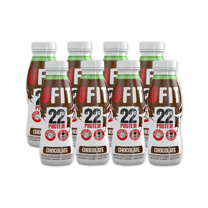 UFIT High 22g Protein Drink Chocolate 8 x 310ml