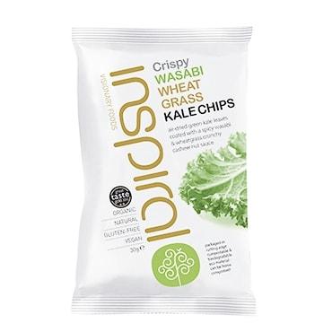 Inspiral Kale Crisps Wasabi & Wheatgrass 30g