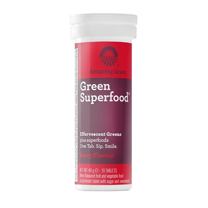 Amazing Grass Green Superfood Berry Flavour Effervescent 10 Tablets