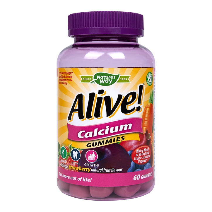 Nature's Way Alive! Calcium Soft Jells 60 Chewable Jells