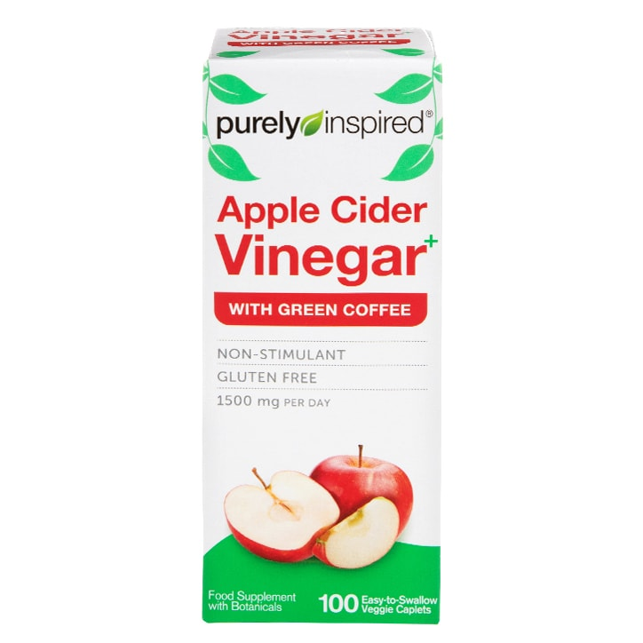 Iovate Purely Inspired Apple Cider Vinegar with Green Coffee 1500mg 100 Caplets