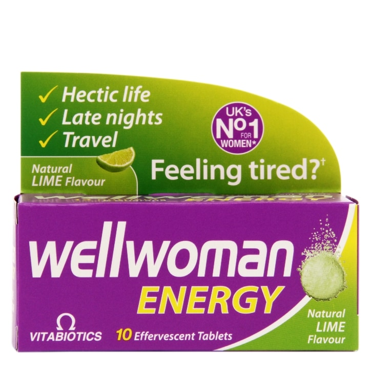 Vitabiotics Wellwoman Energy Lime 10 Effervescent Tablets