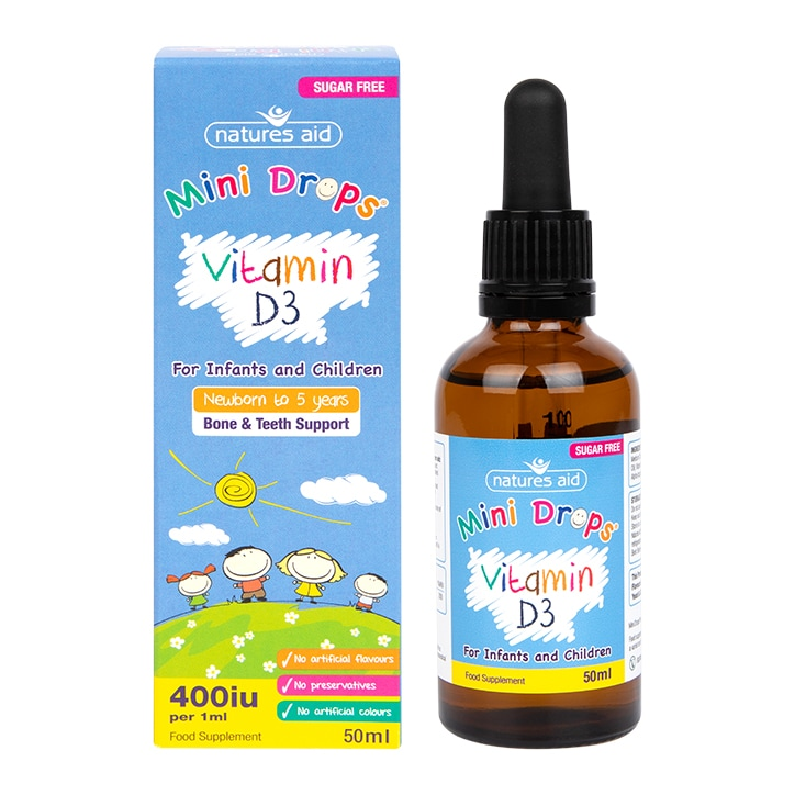 Natures Aid Vitamin D3 Drops for Children 50ml