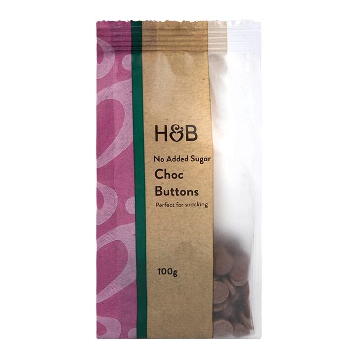 Holland & Barrett No Added Sugar Chocolate Buttons 100g
