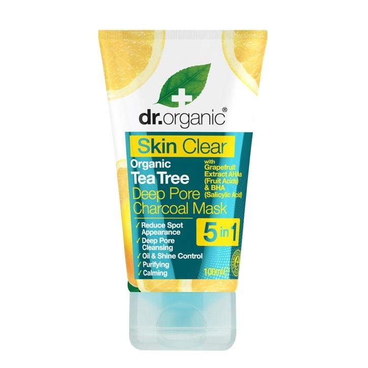 Dr Organic Skin Clear Organic Tea Tree Deep Pore Charcoal Mask 100ml