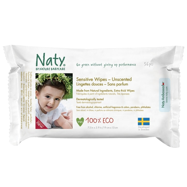 NATY Nature Baby Sensitive Wipes Unscented 390g