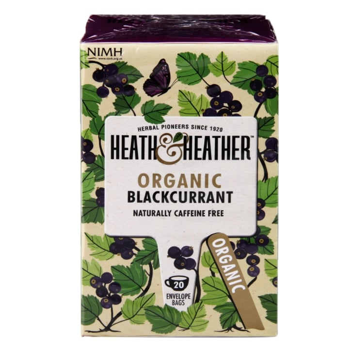 Heath & Heather Organic Blackcurrant 20 Tea Bags