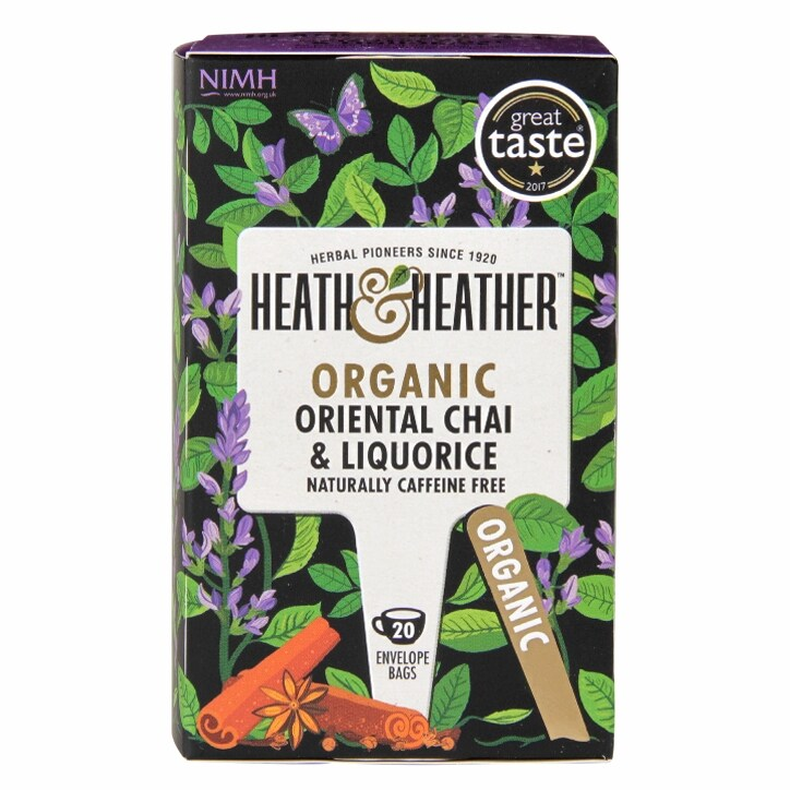 Heath & Heather Organic Oriental Chai & Liquorice 20 Tea Bags