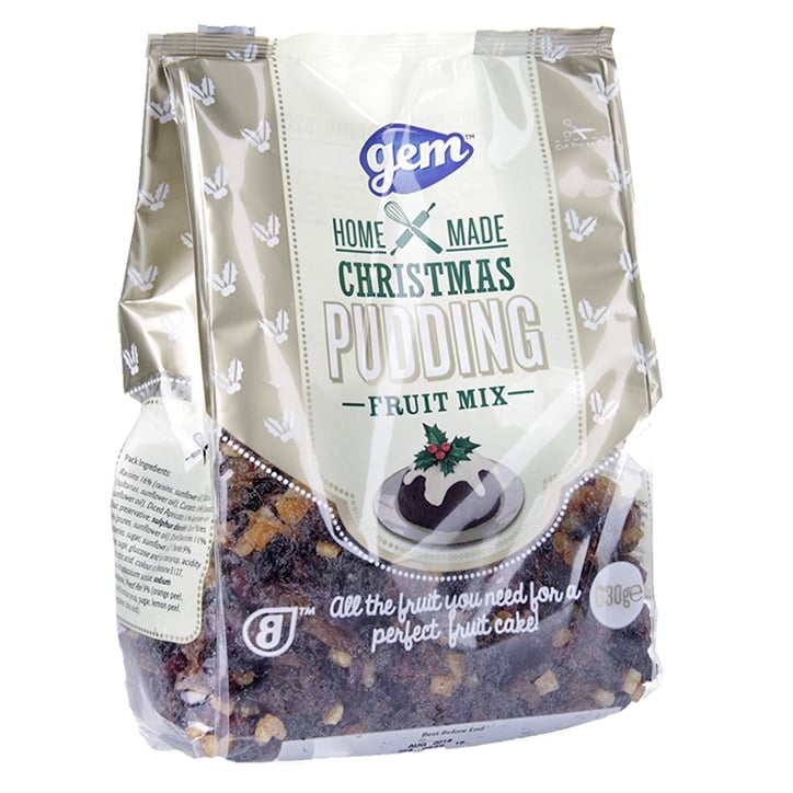 Gem Christmas Pudding Fruit Pack Mix 630g