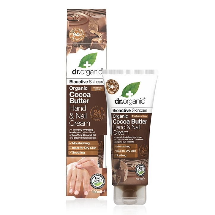 Dr Organic Cocoa Butter Hand & Nail Cream 100ml