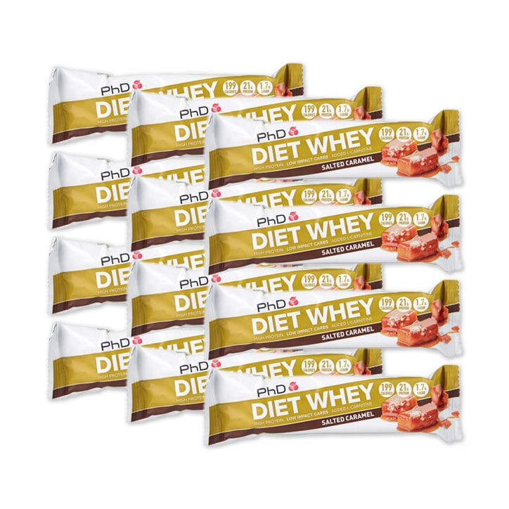 PhD Diet Whey Bar Salted Caramel 12 x 65g