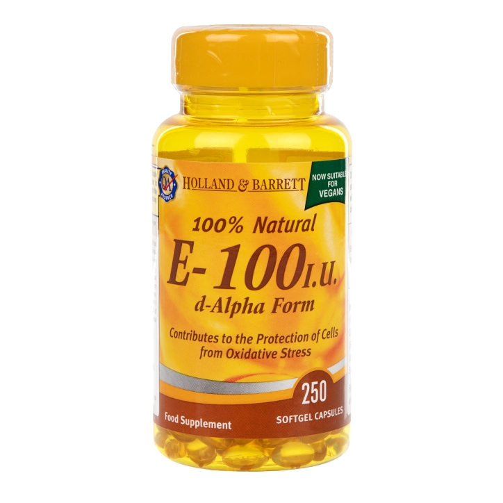 Holland & Barrett Vitamin E 100iu 250 Softgel Capsules