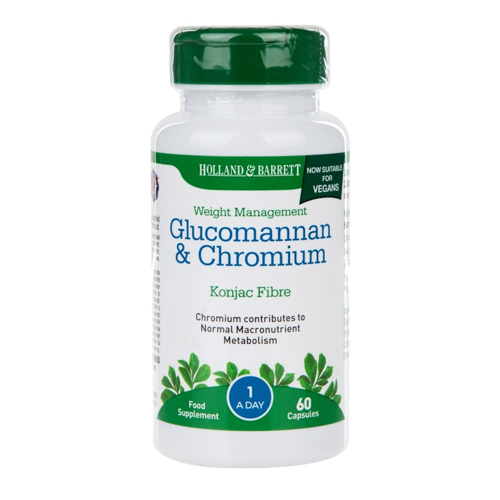 Holland & Barrett Glucomannan & Chromium 60 Capsules
