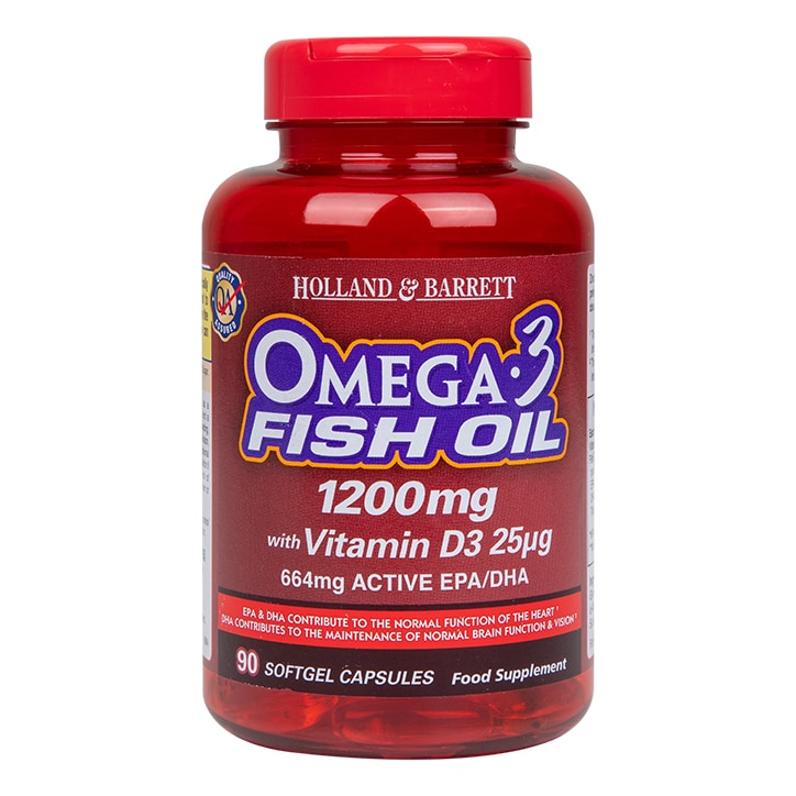 Holland & Barrett Omega Plus D3 90 Capsules 1200mg