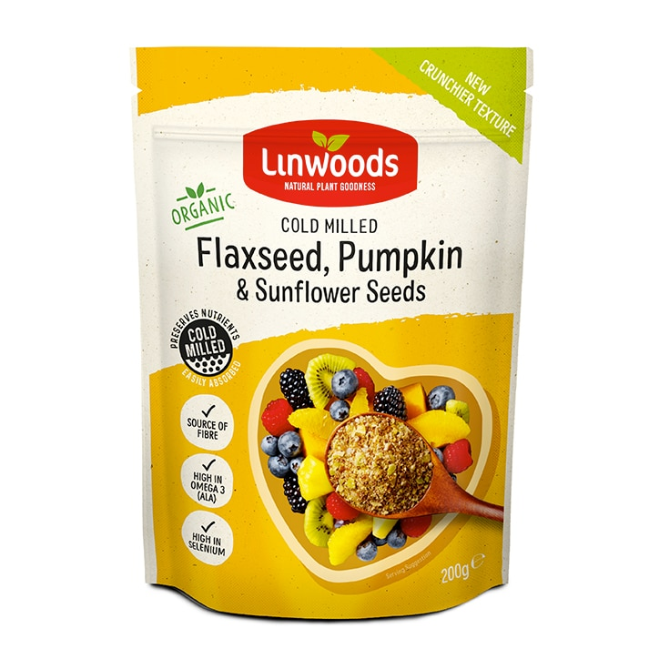 Linwoods Milled Organic Flaxseed, Sunflower & Pumpkin Seeds 200g