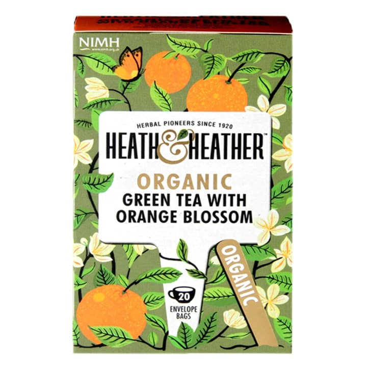 Heath & Heather Organic Green Tea with Orange Blossom 20 Tea Bags