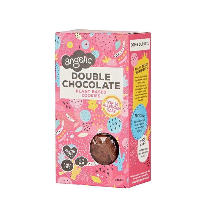 Angelic Double Chocolate Gluten Free Cookies Box 125g