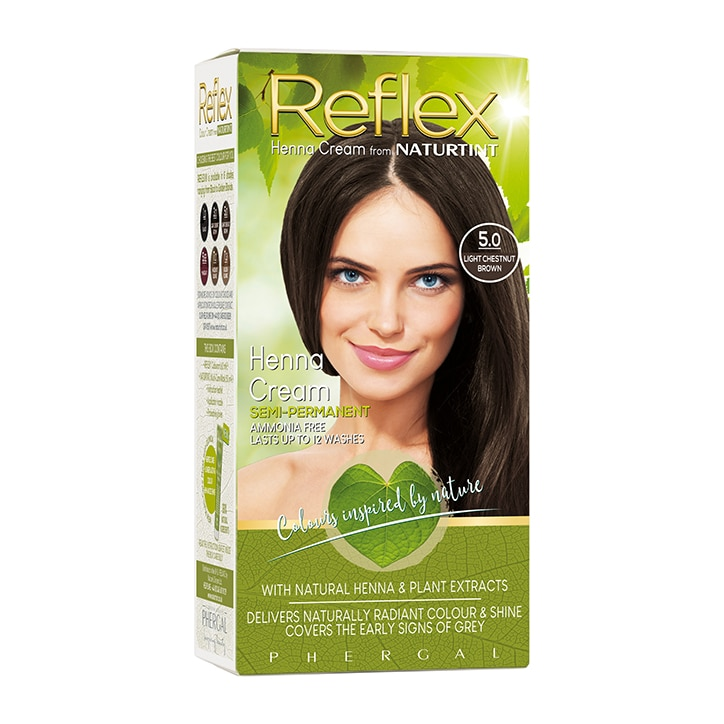 Naturtint Reflex Semi-Permanent Hair Colour 5.0 (Light Chestnut Brown)