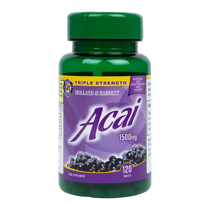 Holland & Barrett Acai Berry 120 Tablets 1500mg