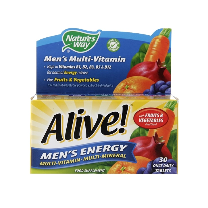 Nature's Way Alive! Men's Energy Multi-Vitamin 30 Tablets