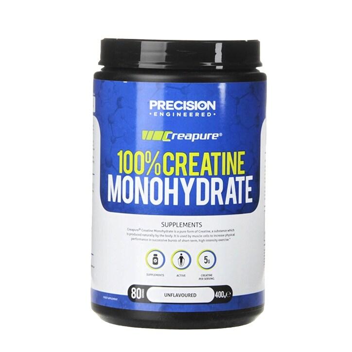 Precision Engineered Creapure 100% Creatine Monohydrate Powder 400g
