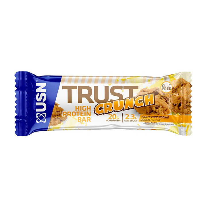 USN Trust Crunch Bar White Choc Cookie Dough 60g