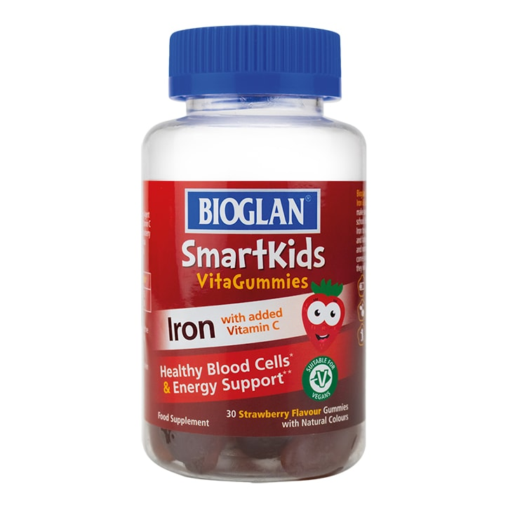 Bioglan SmartKids Iron with Vitamin C 30 Strawberry Flavour Gummies