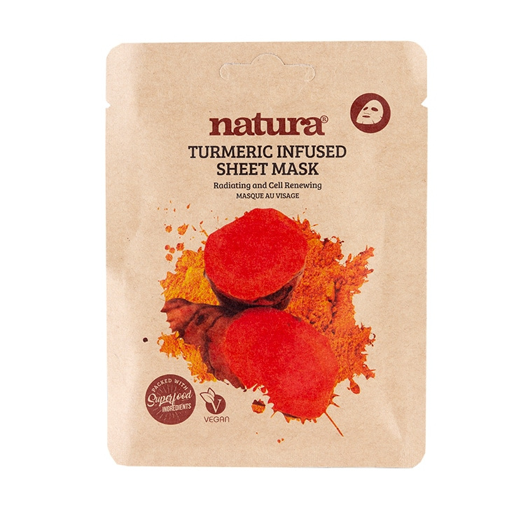 Natura Turmeric Infused Sheet Mask 22ml