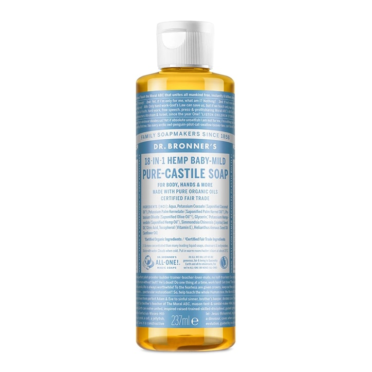 Dr Bronner's Baby Unscented Pure-Castile Liquid Soap 237ml