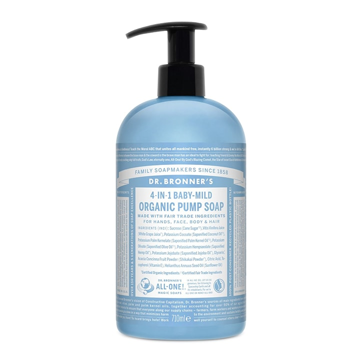 Dr Bronner's Sugar Baby-Unscented Organic Pump Soap 710ml